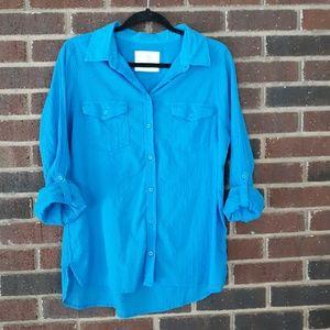 Sonoma Tops - Sonoma Blue Button Down Shirt LS Size Large